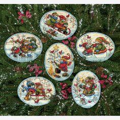 Dimensions Crafts® | Playful Snowmen Ornaments