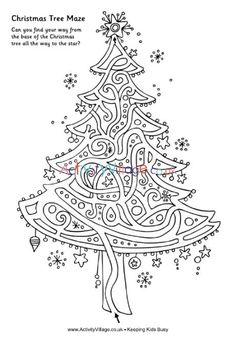 Printable Mazes for Kids Christmas Maze, Christmas Puzzle, Christmas Colors, Winter Christmas, Christmas Themes, Elegant Christmas, Halloween Christmas, Beautiful Christmas, Christmas Activities