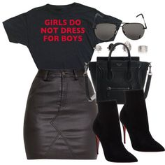 A fashion look from March 2017 featuring Christian Louboutin ankle booties and Yves Saint Laurent sunglasses. Browse and shop related looks.