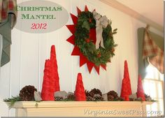 2012 Christmas Mantel by Sweet Pea