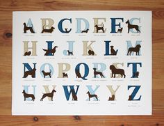 $40 - Alphabet featuring a different dog breed for each letter