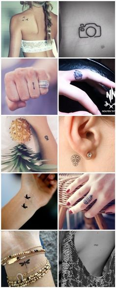 tattoo, cute tattoo, tiny tattoo, small tattoo, wehearit, pineapple tattoo, day of the dead tattoo, bird tattoo