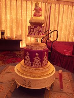 Fabulous A Cake Odyssey wedding cake! Perfect for any cultural event! #Venues, #receptions, #weddings; #cakes