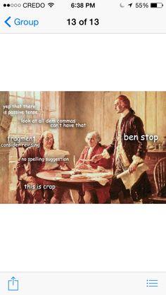 doctor-shirelock: Via ladyhistory Editors. Tumblr Funny, Funny Memes, 9gag Funny, It's Funny, Memes Humor, Art History Memes, Funny History, History Facts, Classical Art Memes