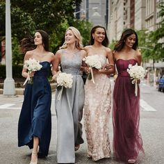 We've fallen head over heels for these perfectly mix and matched chic and classic bridesmaids dresses by @olegcassini for @davidsbridal   Featuring luxe designer details such as detailed embroidery sumptuous silks and delicate lace all at an affordable price point.  Head over to BridalMusings.com to discover the full collection (link in bio) and prepare to swoon!  #olegcassini #davidsbridal #bridesmaids #bridalmusings #bmloves #ad