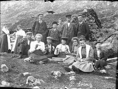 A picnic at a mountain farm - Askvoll,  Norway - 1910
