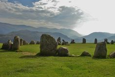 Castlerigg stone circle in the Lake District, England