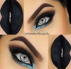 No brave enough for black lips but the eye shadow is a must try!!