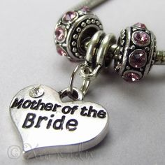 Mother Of The Bride European Birthstones Bead Trio For Charm Bracelets
