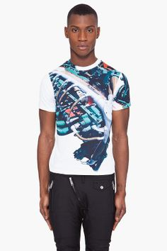 Christopher Kane White Motif T-shirt for men | SSENSE