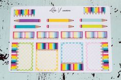 Colored Pencil stickers for your planner or by LisaVcreations