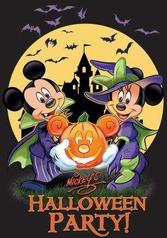 Mickey Halloween Party, Mickey Party, Disney Halloween, Disney Christmas, Halloween Art, Holidays Halloween, Happy Halloween, Halloween Images, Mickey Mouse Art