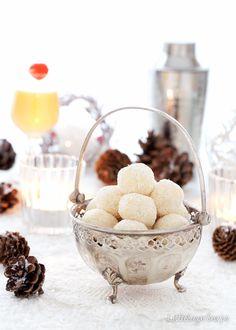 White Chocolate Snowball Truffles