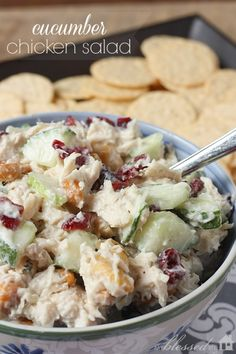 Chicken Salad With Cucumbers | MyBlessedLife.net