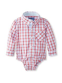 61% OFF Andy & Evan Baby Boy's Lord Of The Gings Shirtzie (Red/Light Blue Gingham)