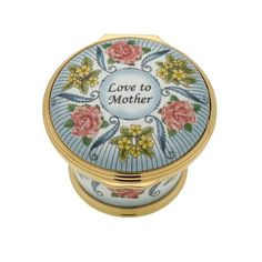 Halcyon Days 2018 Mothers Day Enamel Box ENMD180101G