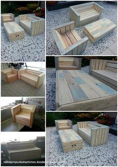 Pallet Furniture Garden Table | Outdoor Furniture Made With Pallets Pallets