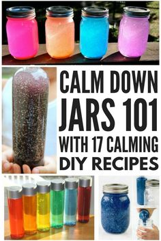 A calm down jar offers a fabulous way for kids (and for adults!) with special needs like autism, sensory processing disorder, OCD, and anxiety to learn the art of self-regulation. We're teaching you what calm down jars are, and how and why they work, and we've got 17 cheap DIY calm down jar recipes. We've even included some glitter-free calm down jars to inspire you to be creative! #autism #specialneeds #specialneedsparenting #sensory #sensoryactivities #SPD #sensoryprocessingdisorder