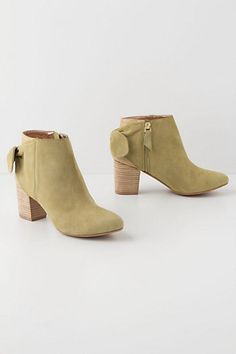Shimmered Bow-Back Booties #anthropologie