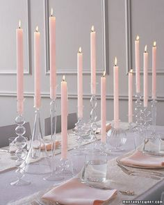 Gorgeous table for spring! Would love to see this at Easter with Candle Impressions flameless tapers