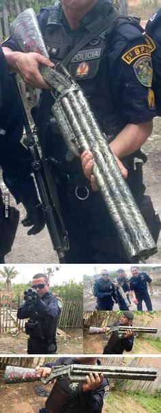 The Hexagun – Improvised six barreled shotgun seized in Brazil