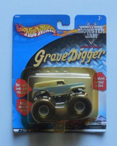 2001 Hot Wheels Monster Jam Grain Grave Digger 1:64 Monster Truck  #HotWheels #GraveDiggerGrainTruck