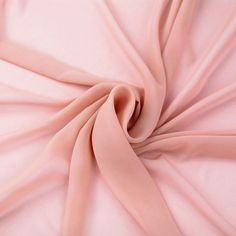Dusty Pink Solid Hi-Multi Chiffon Fabric by the Yard, Chiffon Fabric, Wedding Chiffon, Lightweight Chiffon Fabric - Style 500