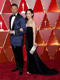 Terrence Howard walked the red carpet with wife Miranda Pak on his arm. - Jim Smeal/BEI/Shutterstock/Rex USA