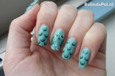 Cute Owl Nail Art part 2  Essie Turquoise And Caicos and Catrice 740 King of greens