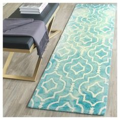 Alyson Accent Rug - Turquoise / Ivory (2'3 X 8') - Safavieh, Durable