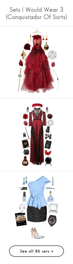 """Sets I Would Wear 3 (Conquistador Of Sorts)"" by celestial-ringmaster ❤ liked on Polyvore featuring DV, Marchesa, Dolce&Gabbana, Miss Selfridge, Physicians Formula, Kundalini, Notte by Marchesa, Gucci, Kate Spade and NOVICA"