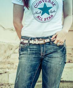 Aj dámy si prídu na svoje ;) #dámska #móda #rifle #converse #hoffe #leather #fashion