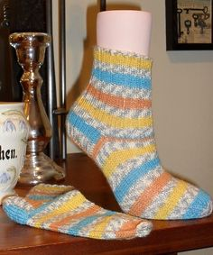 Sweet yellow stripes just make these socks!  In stock and ready to ship to you!  #CraftShout