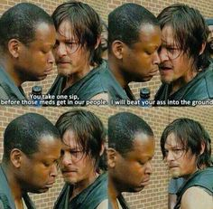 The Daryl Dixion AA program for the zombie apocalypse...one of my favorite scenes with Daryl.