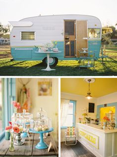 !!! Super sweet cupcake 'traveling' storefront-absolutely adorable old camper turned store!