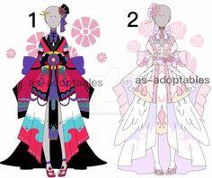 Kimono princess outfit adoptables CLOSED by AS-Adoptables