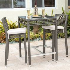 Product Image for Panama Jack® Graphite 3-Piece Outdoor Pub Set in Grey 1 out of 2