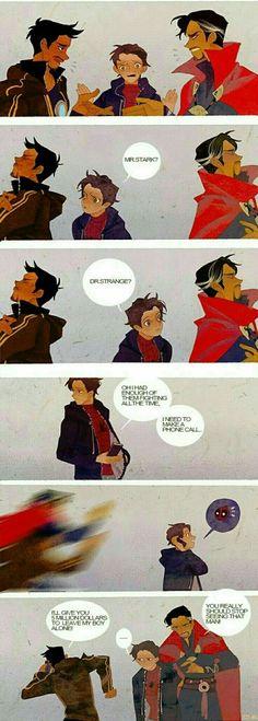 I don't really ship Spideypool, but I can imagine Deadpool as Peter's insane, slightly-crazy older brother figure he never had. Marvel Dc Comics, Marvel Avengers, Funny Marvel Memes, Marvel Jokes, Dc Memes, Marvel Heroes, Funny Comics, Loki Funny, Avengers Humor