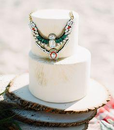 Boho Glam Wedding Cake by Superfine Bakery