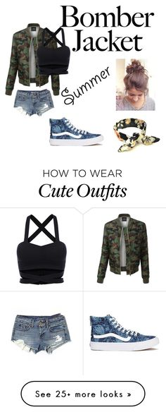 """Untitled #49"" by amzingwoman on Polyvore featuring LE3NO, American Eagle Outfitters, Vans and bomberjackets"