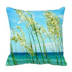 Sea Oats Ocean Beach Pillow