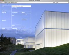Website and identity for Steven Holl Architects.