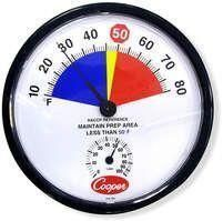 212-155 Tri-Zone Colored Prep Area Wall Thermometer and Hygrometer