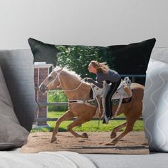 Super soft and durable spun polyester Throw pillow with double-sided print. Cover and filled options. Heartland Georgie, Heartland Cbc, Country Best Friends, Trick Riding, Ty And Amy, Amber Marshall, Spartan Race, Barrel Racing, Greys Anatomy