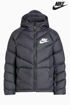158981569fafef Boys Nike Down Parka Jacket - Black Parka Duvet, Vêtements De Sport De Nike,