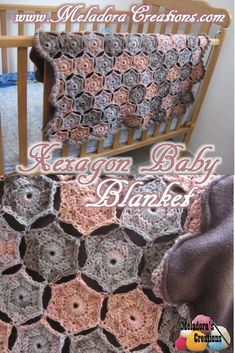 Your place to learn how to Crochet the Hexagon Baby Blanket for FREE. by Meladora's Creations - #crochet #crocheting #Crochetstitch #freecrochetpattern #crochetpattern #crochettutorial #meladorascreations