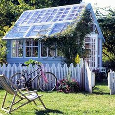 I think I want something like this.  A lot of adjustable glass panels with a cottage-y appeal