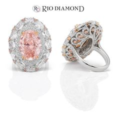 Rio Diamond. Take a look at our beautifully designed color diamond ring, marvelously detailed from front to back.