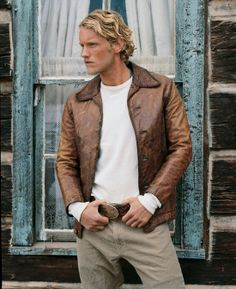 Kevin, PRL Tooled Leather Jacket, 2000. Matthew Miller · Ralph Lauren Men 465b3c82833