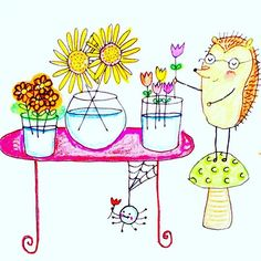 Here's a sketch I completed for my picture book dummy - that eventually became 'Iggie's Gingerbread'.